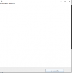 A simple text editor with a button